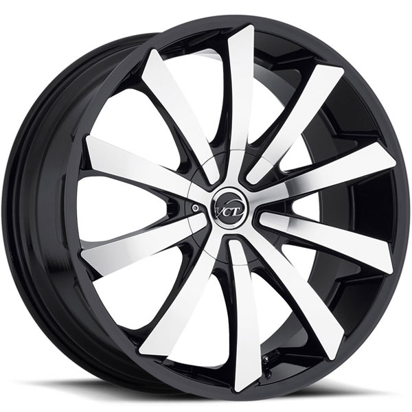 VCT V48 Black with Machined Face