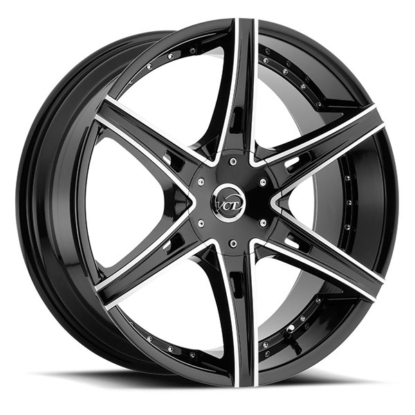 VCT V75 Black with Machined Face