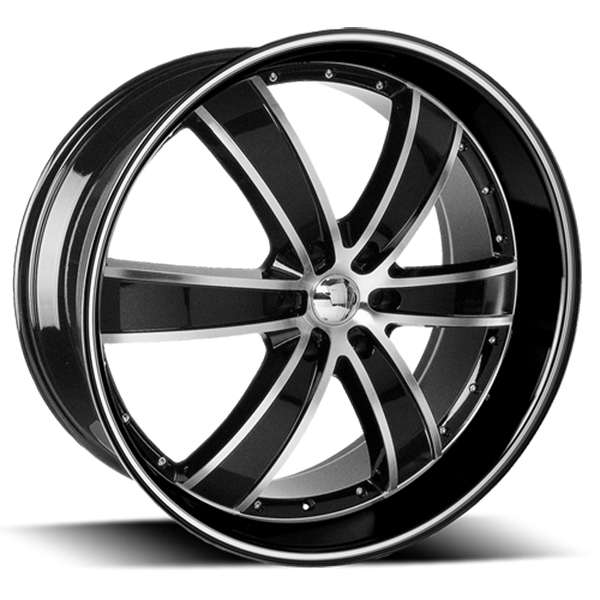 Velocity VW 855B Black with Machined Face and Stripe