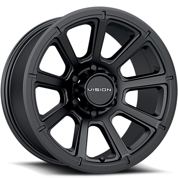 Vision 353 Turbine Matte Black 6 Lug