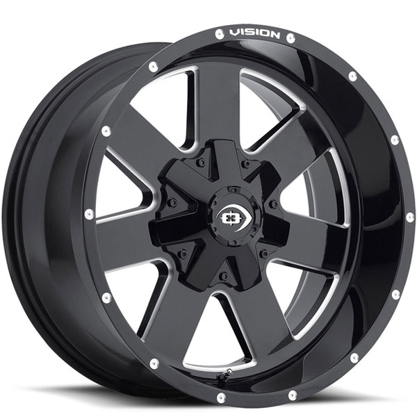 Vision 411 Arc Gloss Black Milled Spokes