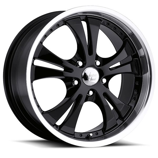 Vision 539 Shockwave Gloss Black with Machined Lip