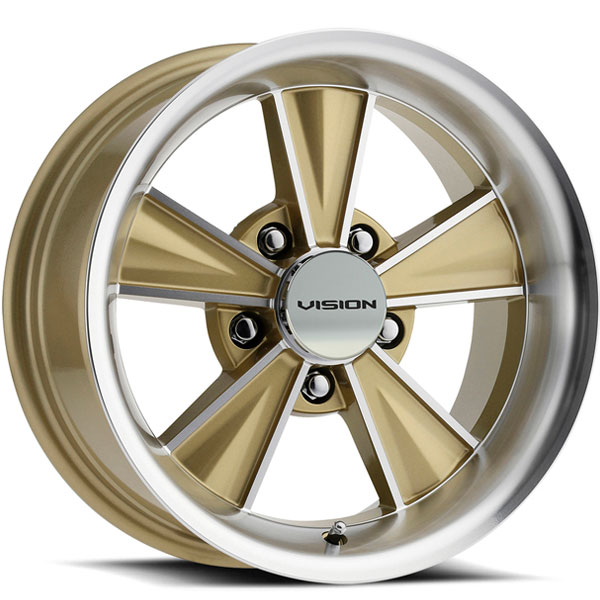 Vision HT324 Dazzler Gold Mirrored with Machined Face