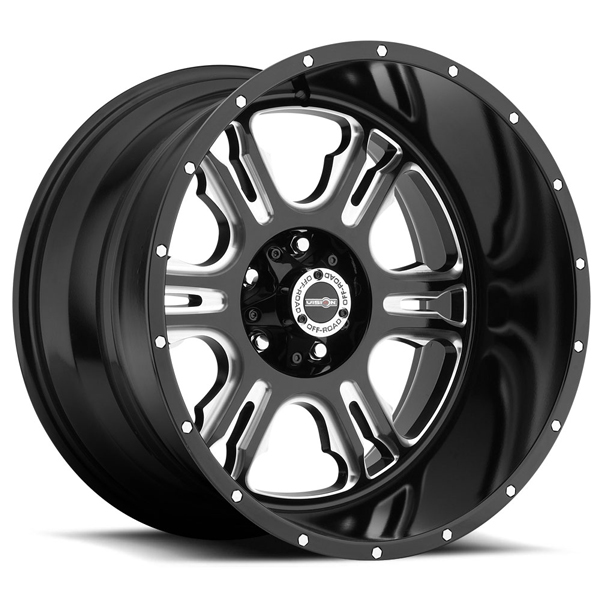 Vision Off-Road 397 Rage Gloss Black with Milled Spokes