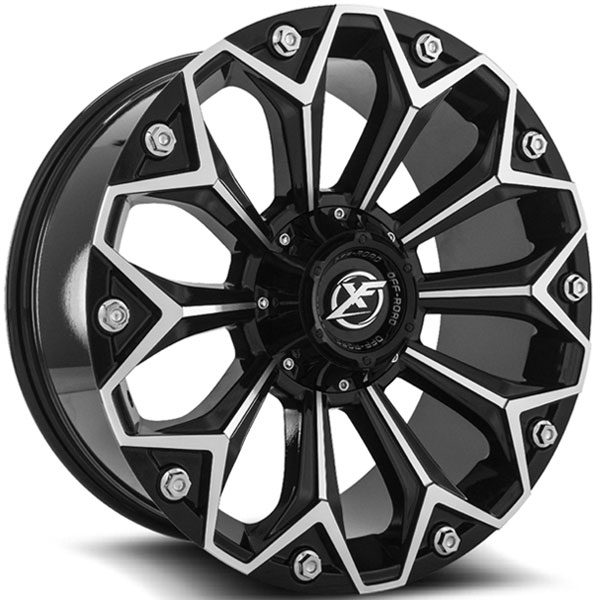 XF Off-Road XF-212 Gloss Black Milled