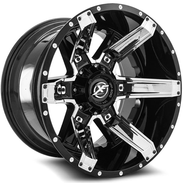 XF Off-Road XF-214 Gloss Black with Chrome Inserts