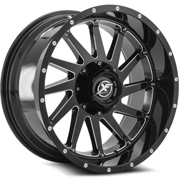 XF Off-Road XF-216 Gloss Black with Milled Spokes